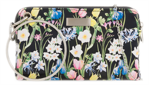 Womens Flowers Ring Clutch Bag