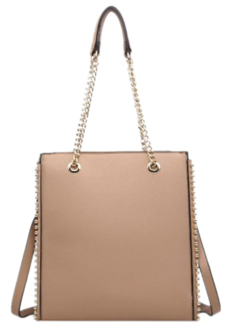 Womens Plain Trim Shoulder Bag