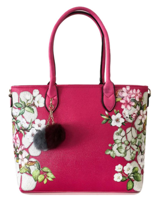 Womens Flowers Top Handle Bag