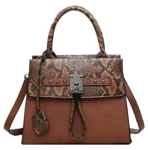 Womens Snake Skin Top Mini Satchel