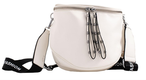 Womens Zipped Shoulder Bag