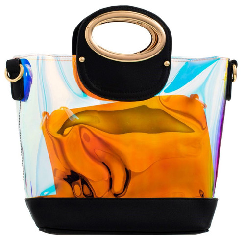 Womens 2 in 1 Transparent Handbag