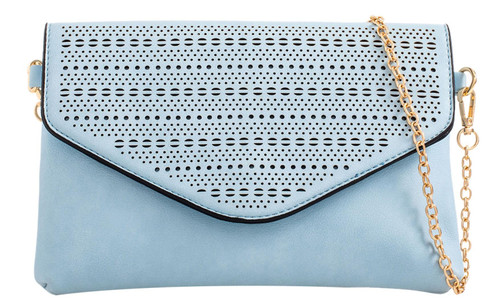 Ladies Laser Cut Envelope Clutch Bag