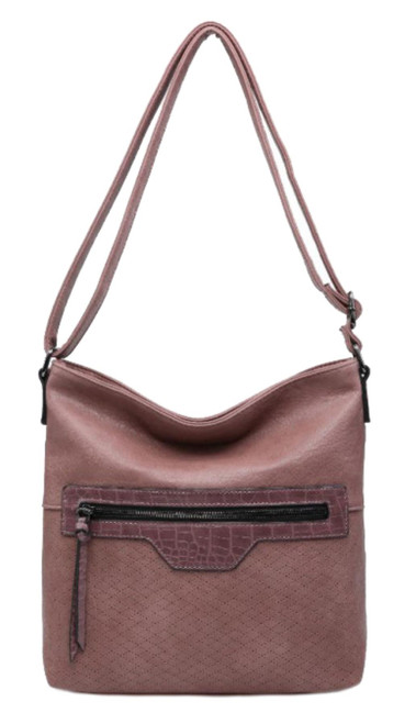 Ladies Croc Insertion Shoulder Bag