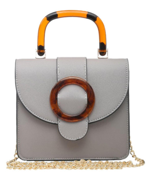 Womens Round Buckle Handbag