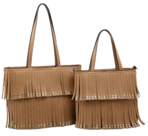 Womens 2 in 1 Tassel Handbag