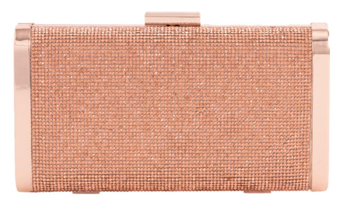 Womens Rhinestones Compact Clutch Bag