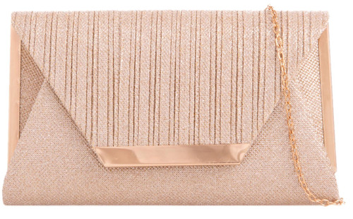 Womens Glitter Frame Clutch Bag