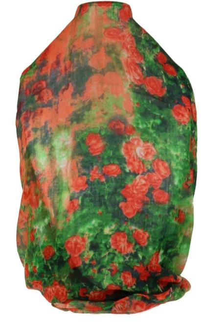 Roses Print Scarf Retro Flowers Garden