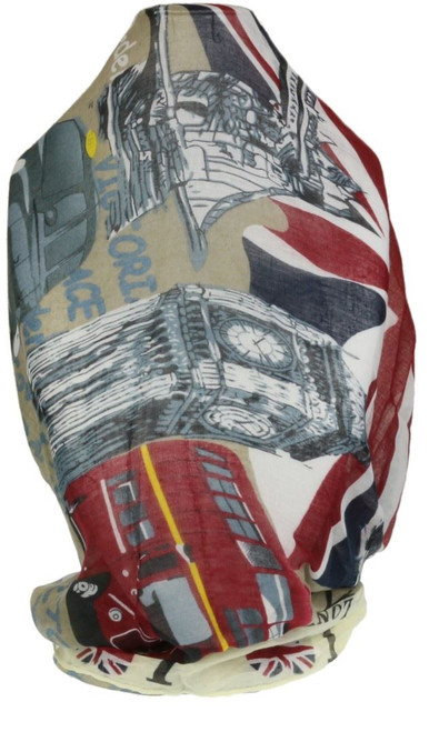 Newspaper Print Scarf Car Flag