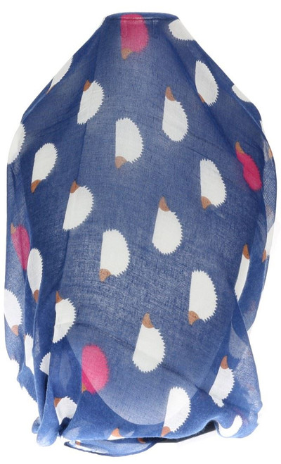 Hedgehogs Print Large Scarf