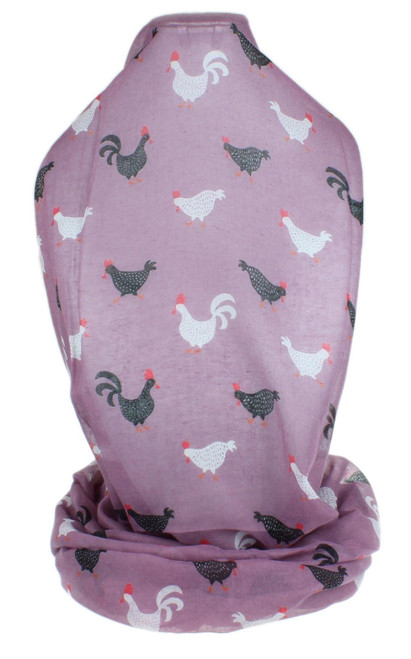 Country Roosters Print Scarf