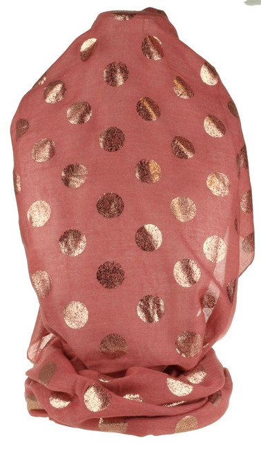 Rose Gold Dots Scarf