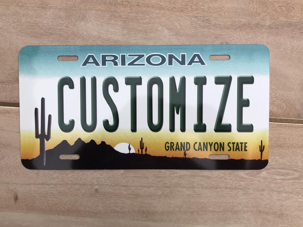 Personalized California Golden Custom Aluminum Novelty State License Plate AUTO