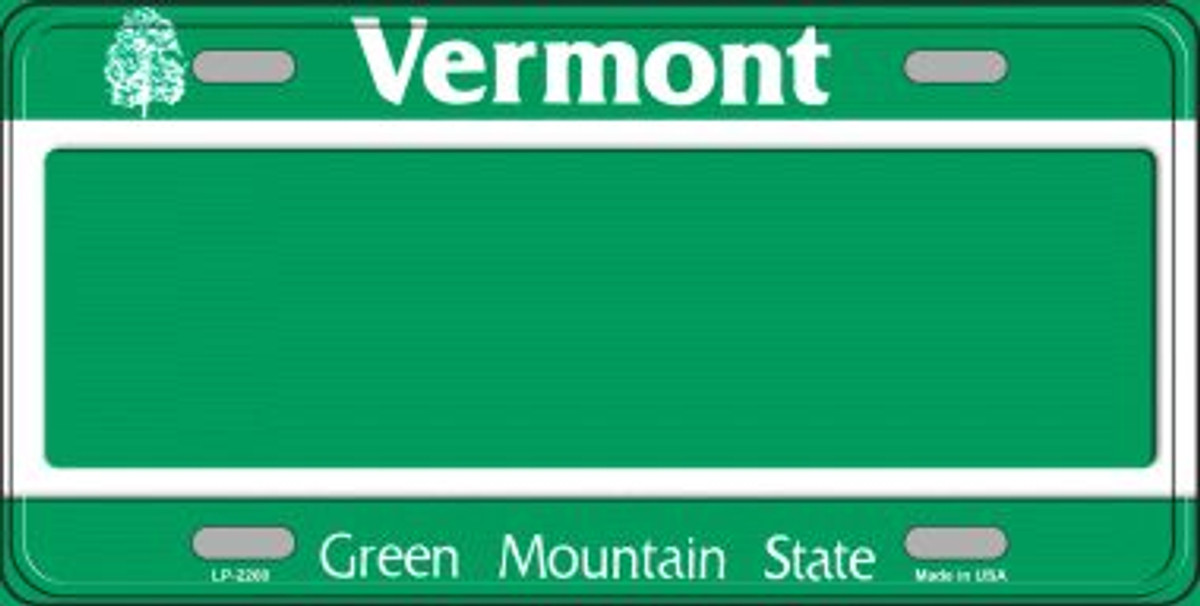 CUSTOM PERSONALIZED ALUMINUM BICYCLE STATE LICENSE PLATE-VERMONT