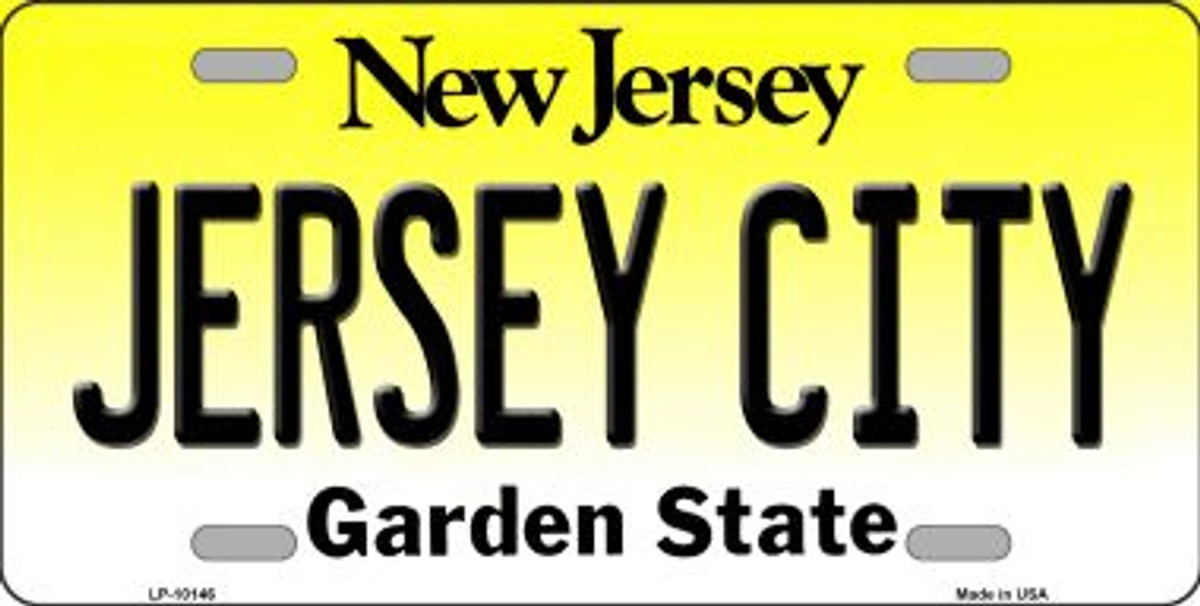 Jesus New York Background Novelty Metal License Plate