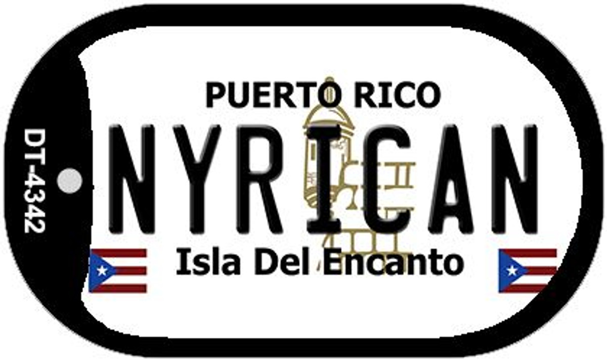 NYRICAN PUERTO RICO NOVELTY STATE BACKGROUND METAL LICENSE PLATE