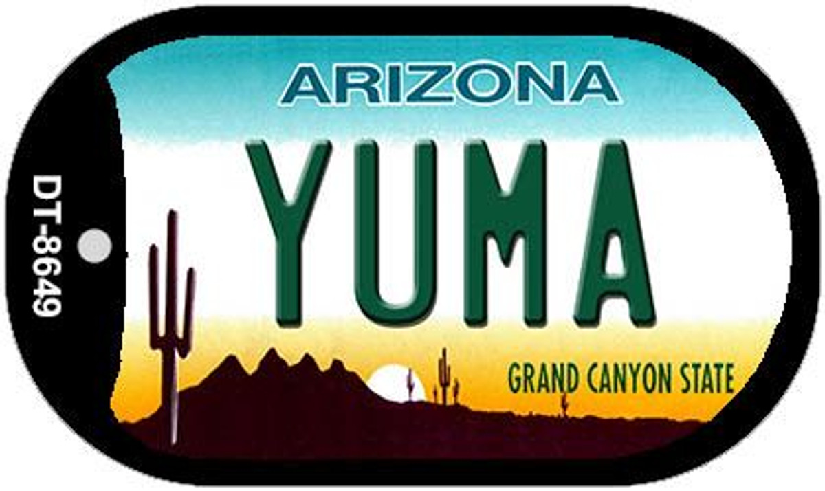 Yuma Arizona Background Novelty Metal License Plate