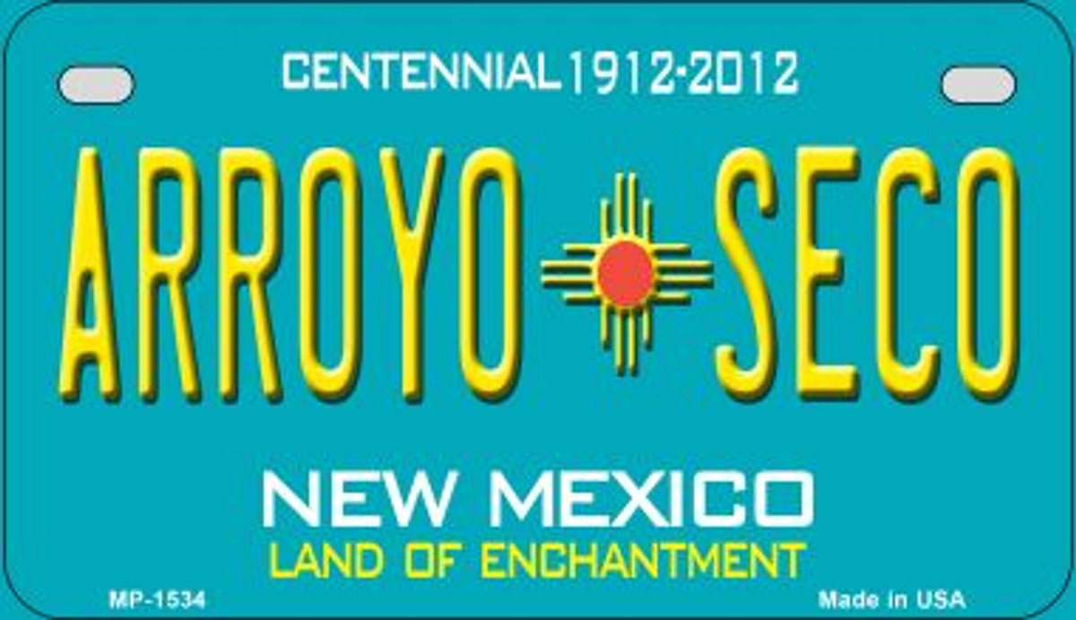 Arroya Seco Yellow New Mexico Novelty Metal License Plate