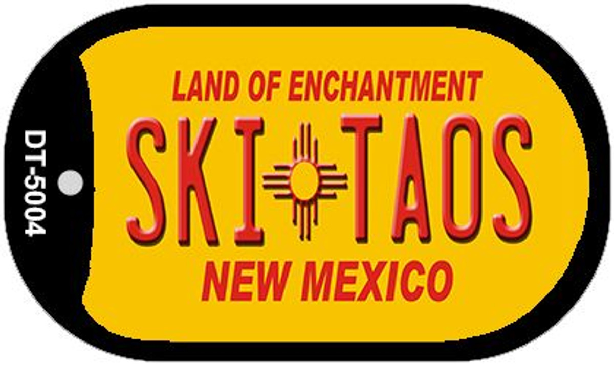 Taos Yellow New Mexico Metal License Plate