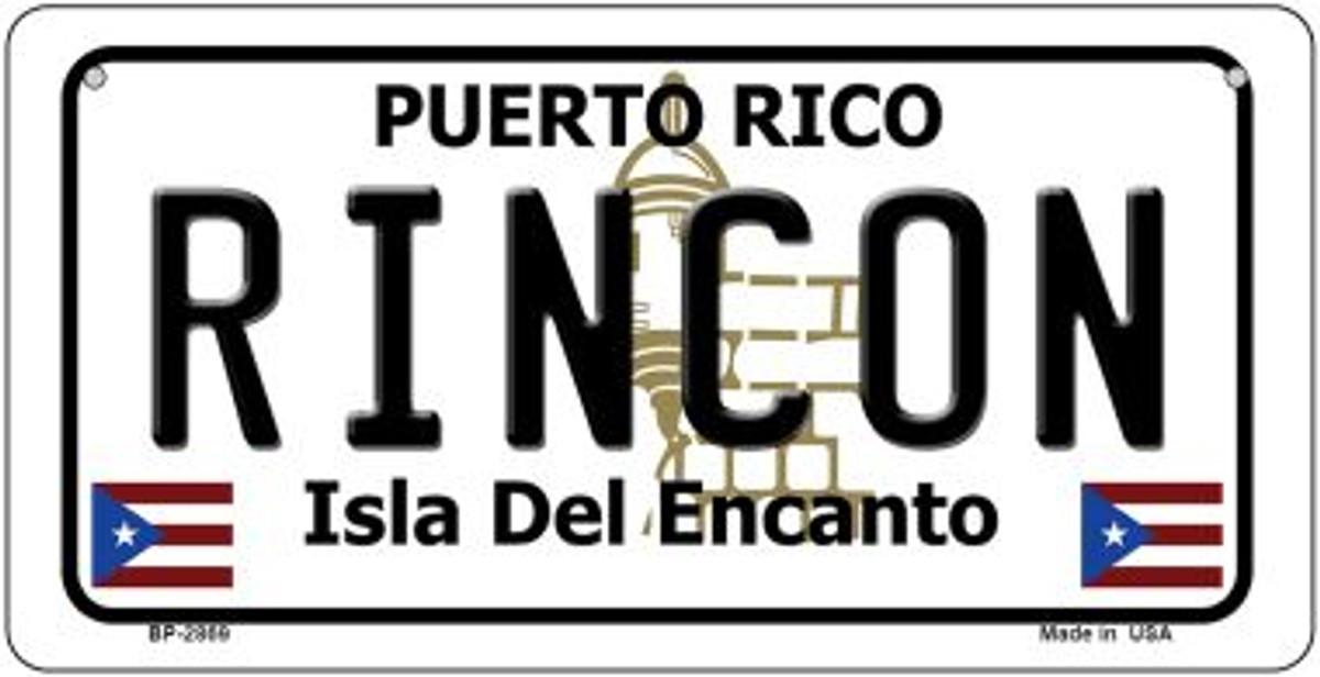 PUERTO RICO RINCON ISLA DEL ENCANTO METAL NOVELTY LICENSE PLATE FOR CARS