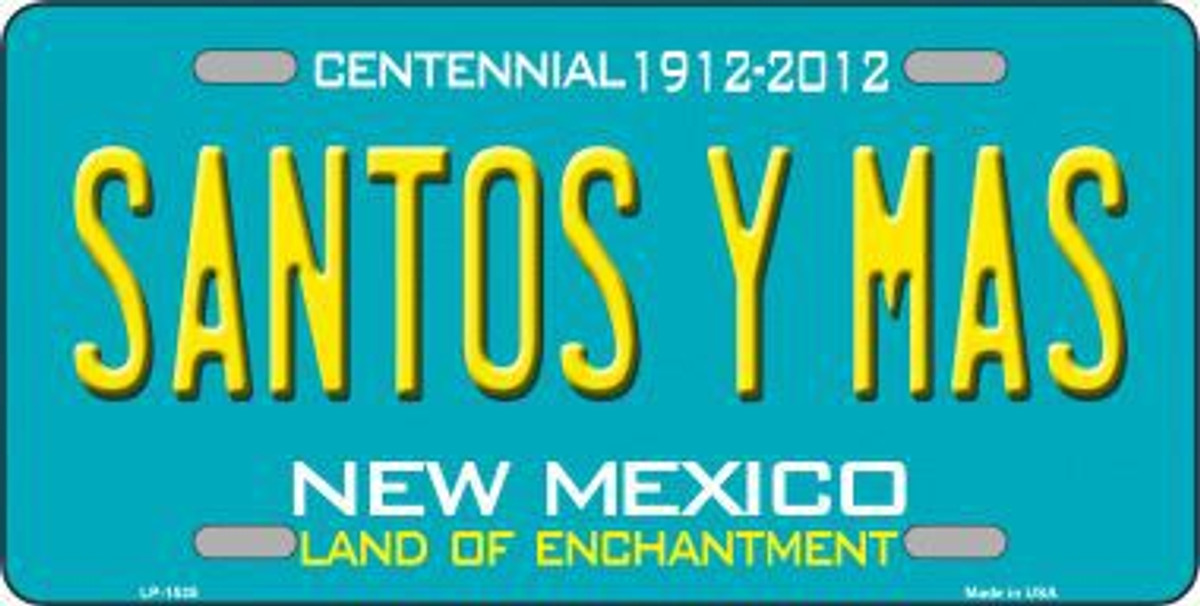 NEW MEXICO LAND OF ENCHANTMENT METAL NOVELTY LICENSE PLATE TAG