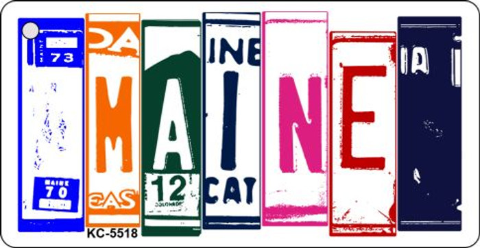 Maine License Plate Art Metal Novelty Mini License Plate Key Chain