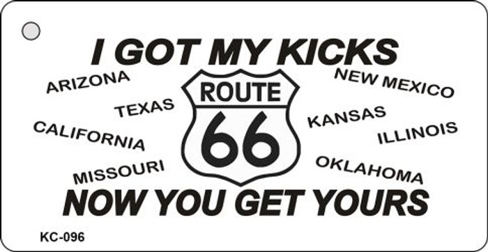 I got My Kicks Route 66 Mini License Plate Metal Novelty Key Chain