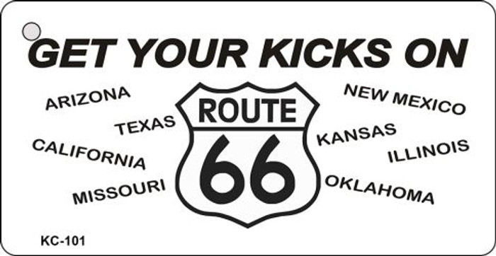 Get Your Kicks Route 66 Novelty Key Chain