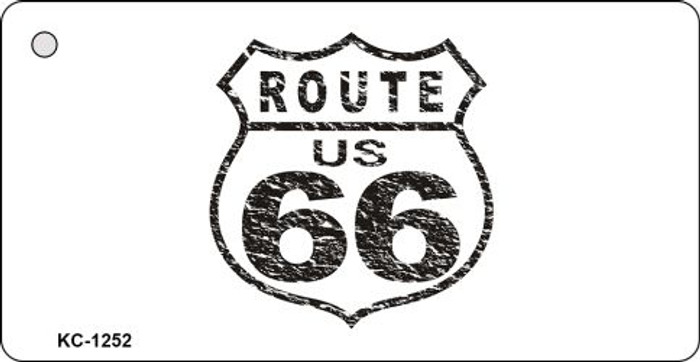 Route 66 Distressed Metal Novelty Key Chain
