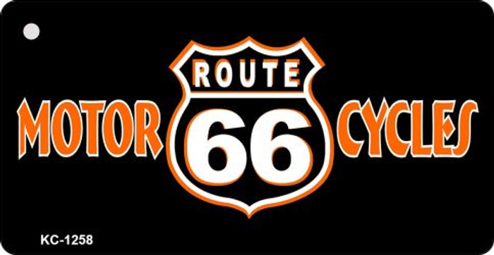 Route 66 Motor Cycles Novelty Metal License Plate