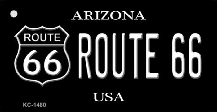 Arizona Route 66 Black Novelty Key Chain