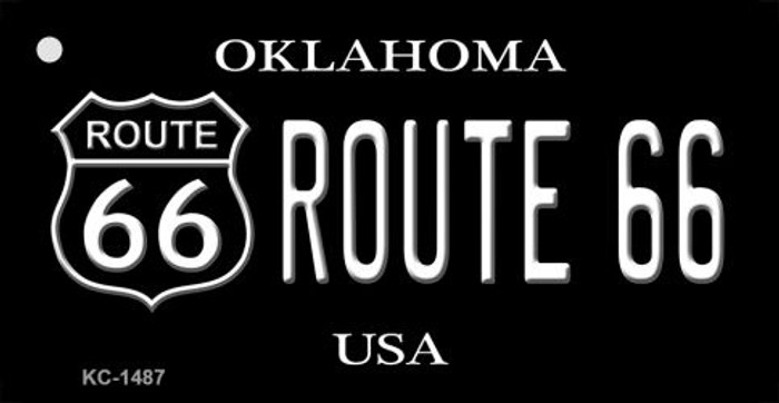 Oklahoma Route 66 Black Novelty Key Chain