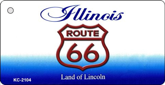 Illinois Shield Route 66 Novelty Metal License Plate