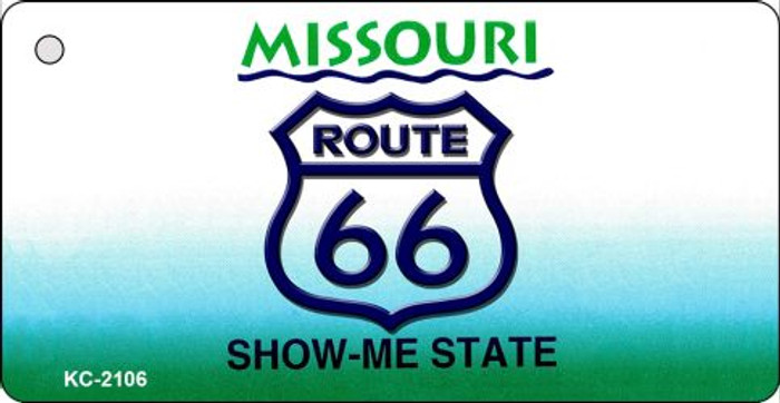 Missouri Shield Route 66 Novelty Metal License Plate