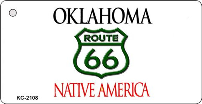 Oklahoma Shield Route 66 Novelty Metal License Plate