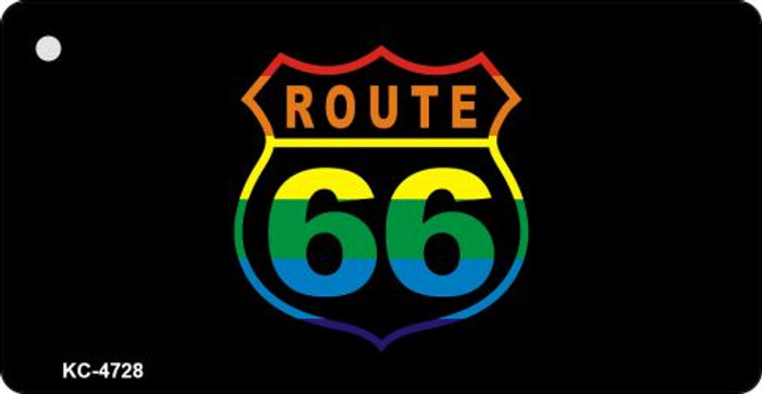 Route 66 Rainbow Novelty Metal License Plate