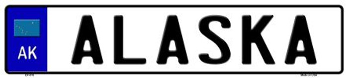 Alaska Novelty Metal European License Plate