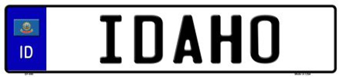 Idaho Novelty Metal European License Plate