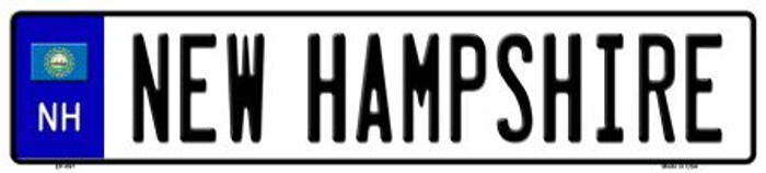 New Hampshire Novelty Metal European License Plate
