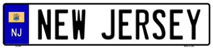 New Jersey Novelty Metal European License Plate
