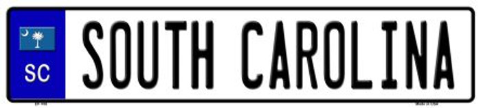 South Carolina Novelty Metal European License Plate