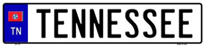 Tennessee Novelty Metal European License Plate