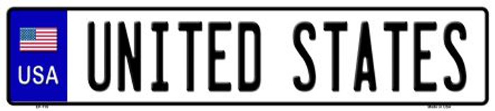 USA Novelty Metal European License Plate