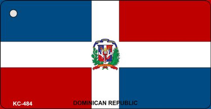 Dominican Rep Flag Novelty Key Chain