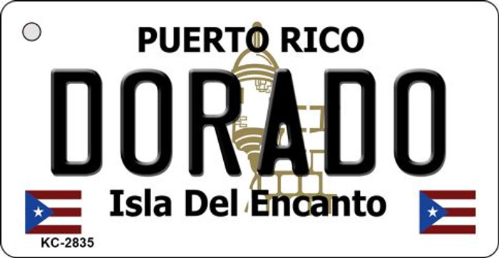 Dorado Puerto Rico Flag Novelty Key Chain