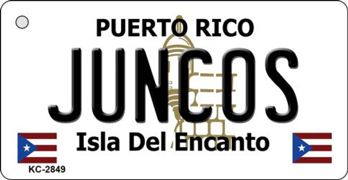 Juncos Puerto Rico Flag Novelty Key Chain