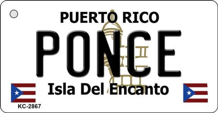 Ponce Puerto Rico Flag Novelty Key Chain