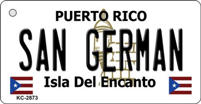 San German Puerto Rico Flag Novelty Key Chain