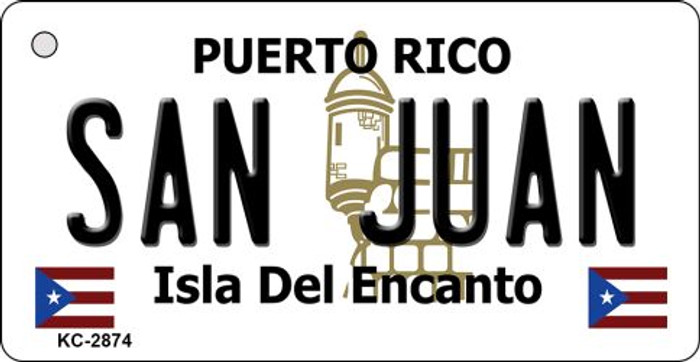 San Juan Puerto Rico Flag Novelty Key Chain